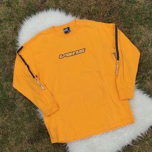 Vans Vintage Yellow Tee Shirt Retro Size Large